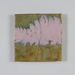 Sunset Science 2017, Resin, pigment, multiplex, 16 x 16 cm
